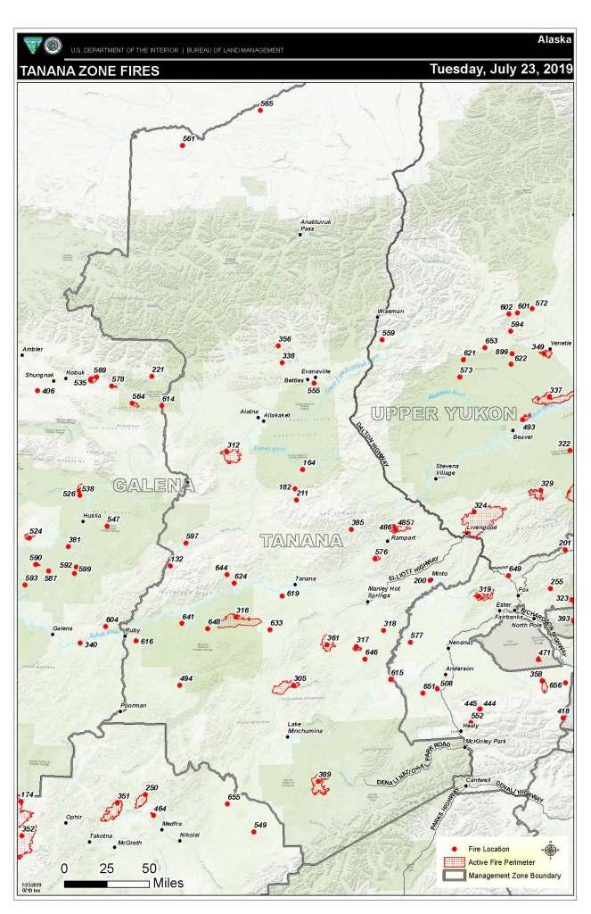 Tanana Zone map.