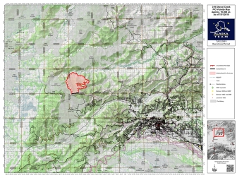 July 2nd 7:00am Vicinity Fire Map for the Shovel Creek Fire