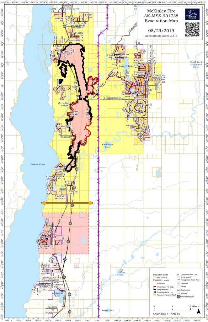 Thursday August 29 2019 McKinley Fire Map