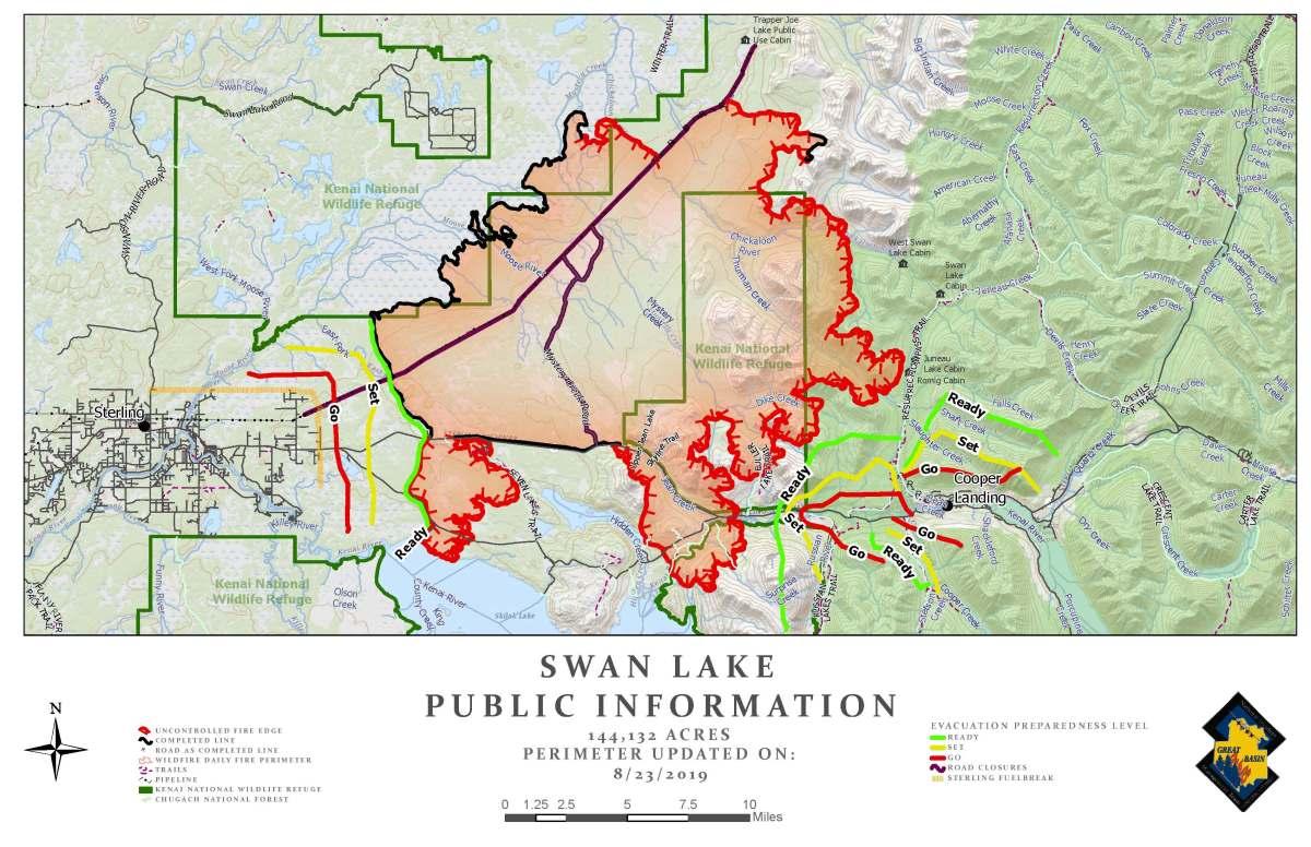 Swan Lake Fire – August 23 Update   AK Fire Info