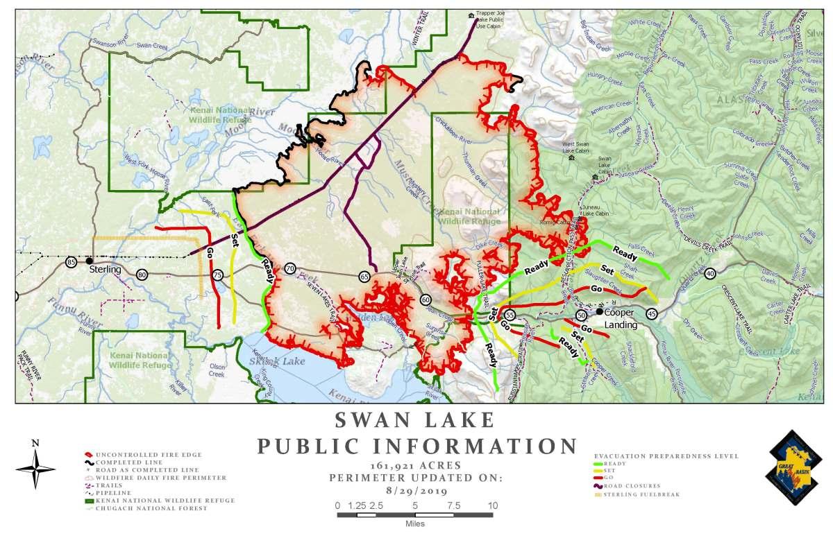 Swan Lake Fire – August 29 Update | AK Fire Info