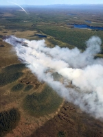 An aerial photo of the Deshka Landing Fire (#736). Photo by Tim Whitesell/Alaska Division of Forestry