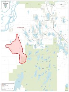 A map showing the perimeter of the Deshka Landing Fire as of Wednesday morning, August 21, 2019.