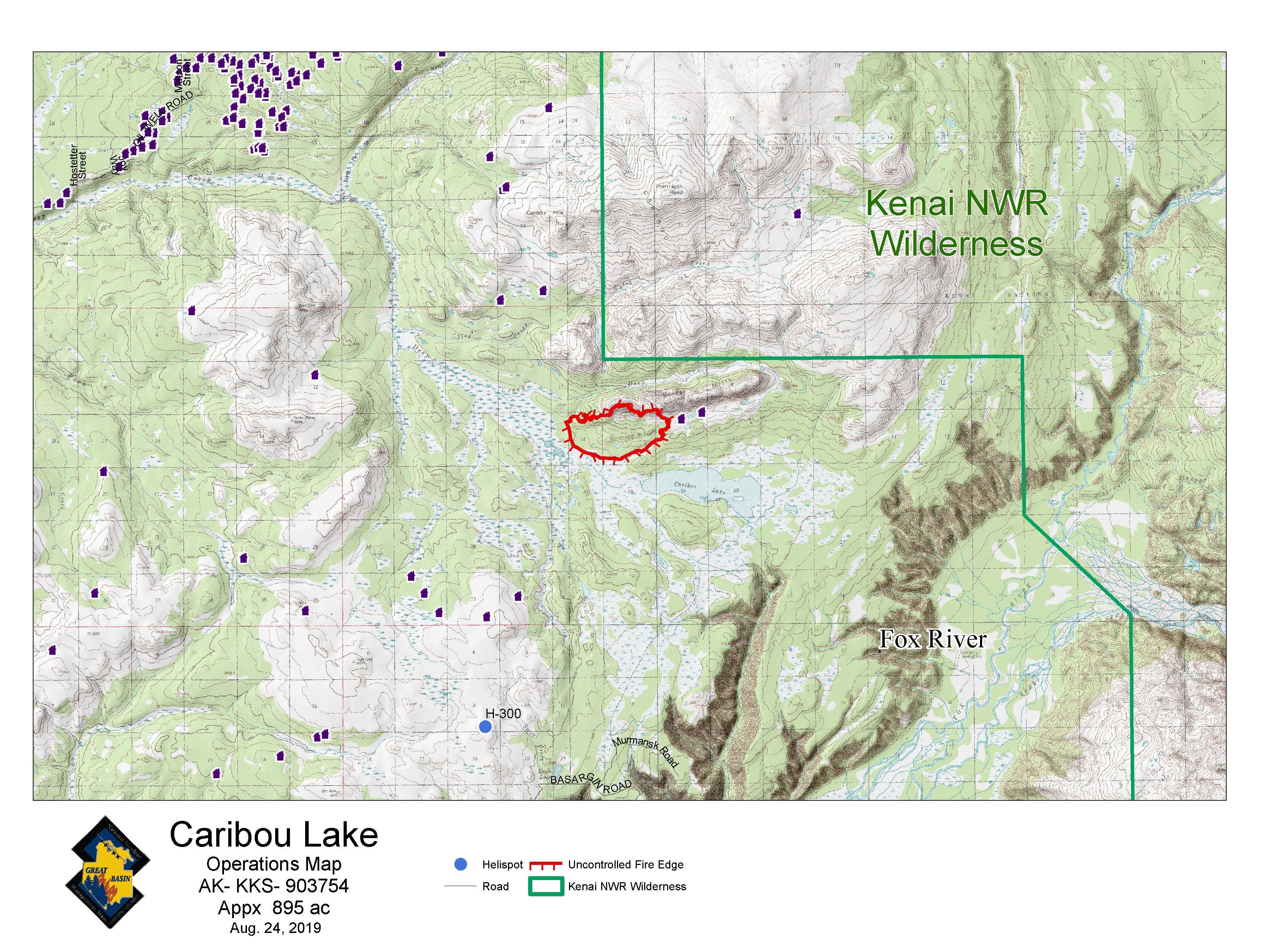 Caribou Lake Fire Update – August 24, 2019   AK Fire Info