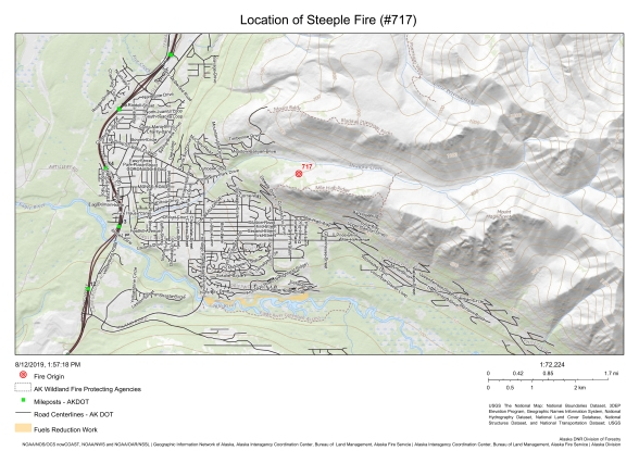 Steeple Fire map Aug. 12