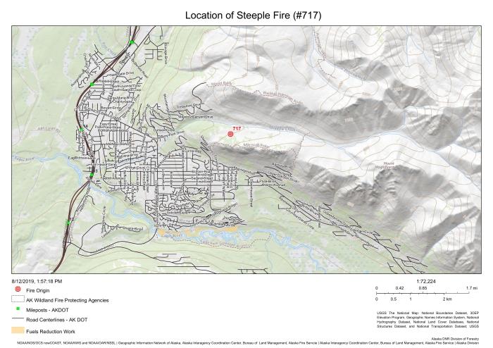 Steeple Fire map Aug. 12