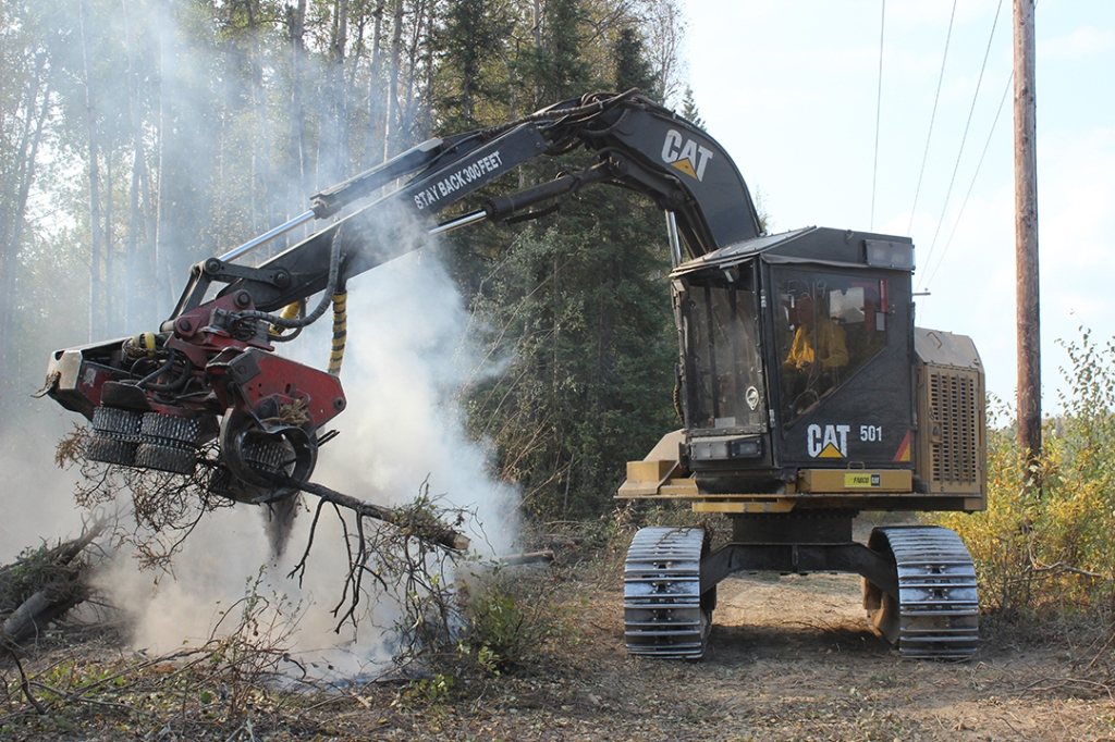 Heavy Equipment working along the fireline on the McKinley Fire, photo credit: Mike McMillian