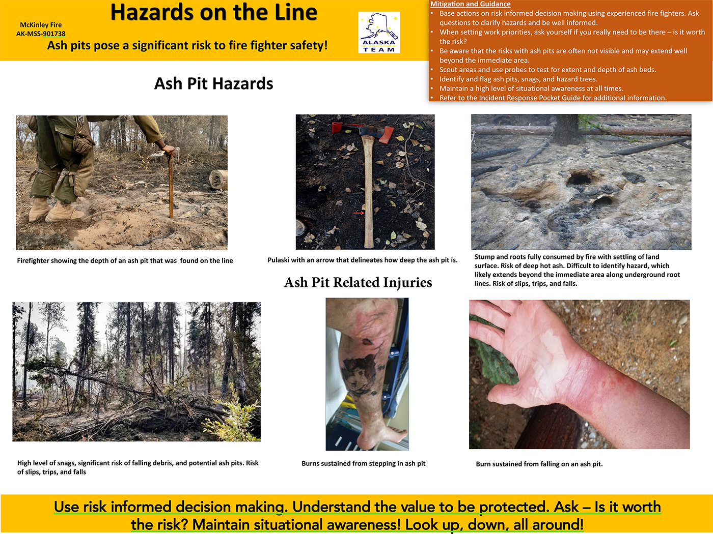 Ash Pit and Hazards on the McKinley Fire