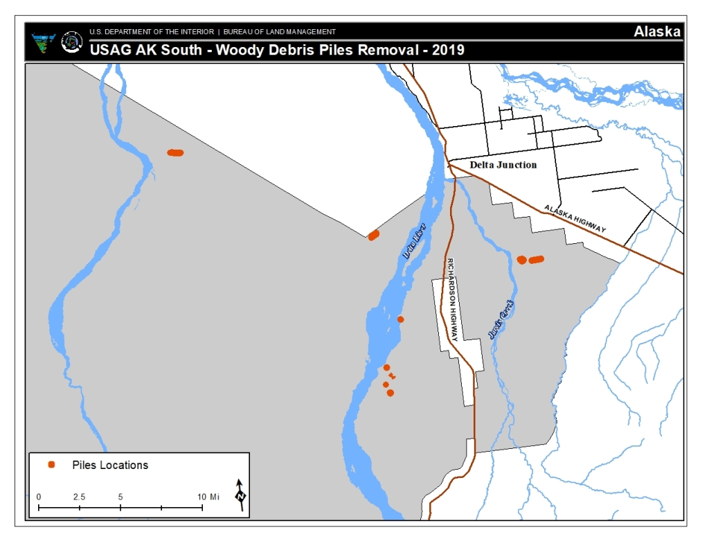 Map of woody debris piles targeted to be burned tentatively scheduled to start on Oct. 5.