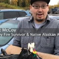 Native Alaskan Carves Walrus Ivory Into Angel and Firefighter to Say Thank You
