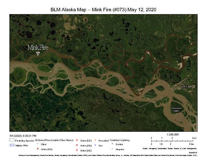 Map of the Mink Fire