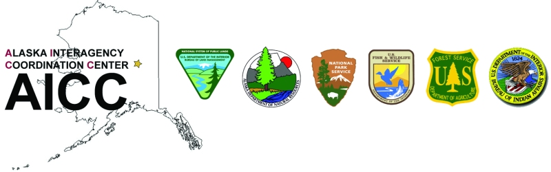 Alaska Interagency Coordination Center masthead.