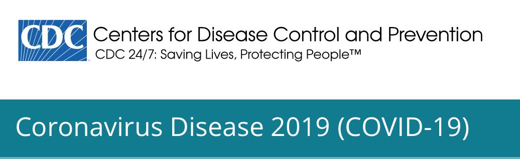 CDC website masthead