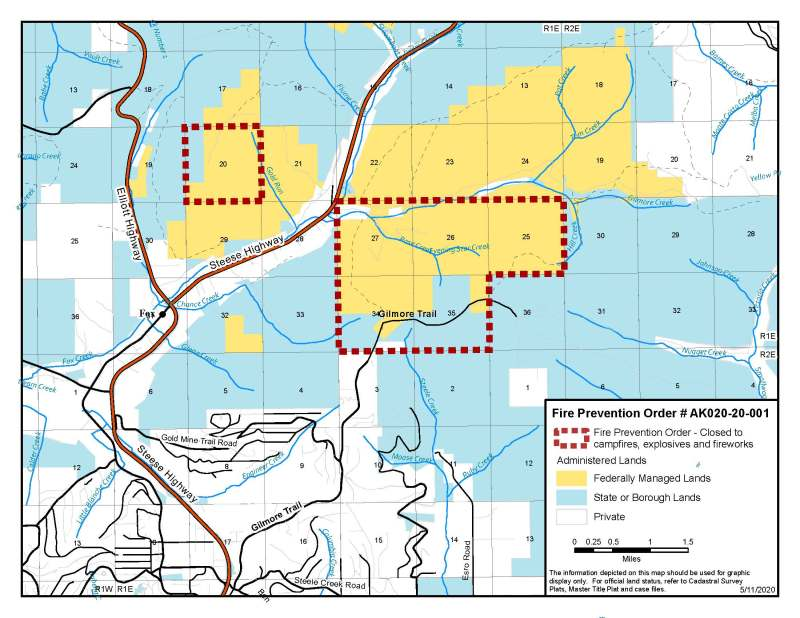 Map included in Fire Prevention Order