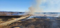 Prescribed burning on the Small Arms Complex east of Fairbanks.
