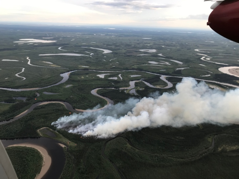 Photo of the Porcupine Fire.