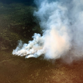 Photo of Flooded Lake Fire June 19, 2020
