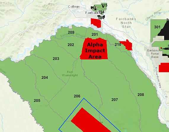 Map of Tanana Flats Training Area.