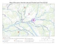 Map of Porcupine, Ninemile Lake and Flooded Lake fires