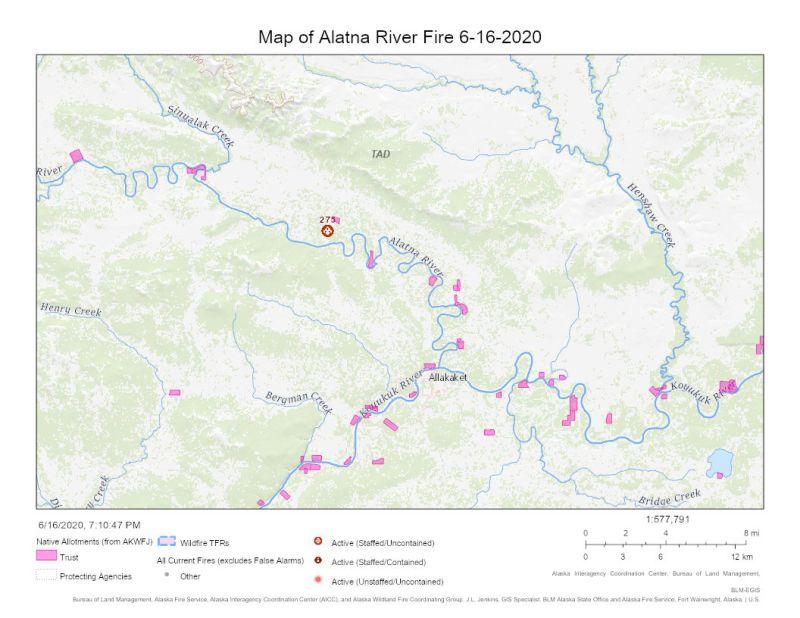 Map of Alatna River Fire