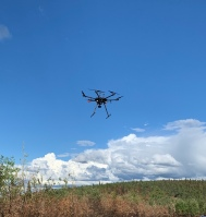 photo of airborne drone