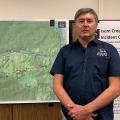 Ed Sanford, Isom Creek Fire Incident Commander