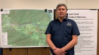 Ed Sanford, Isom Creek Fire Incident Commander