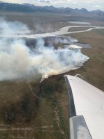 Photo of the Nimiuktuk River fire.