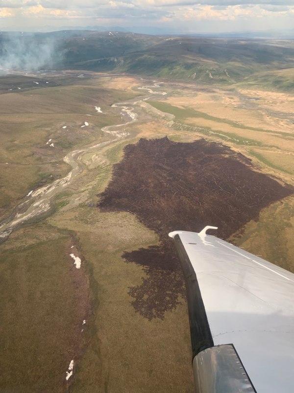 Map of the Aklumayuak Creek Fire.