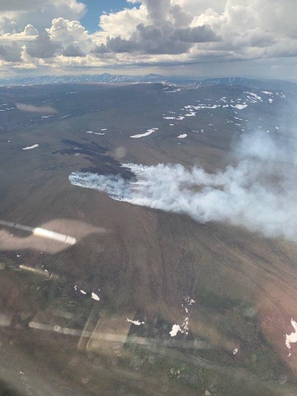 Photo of the Aklumayuak Creek 2 Fire.