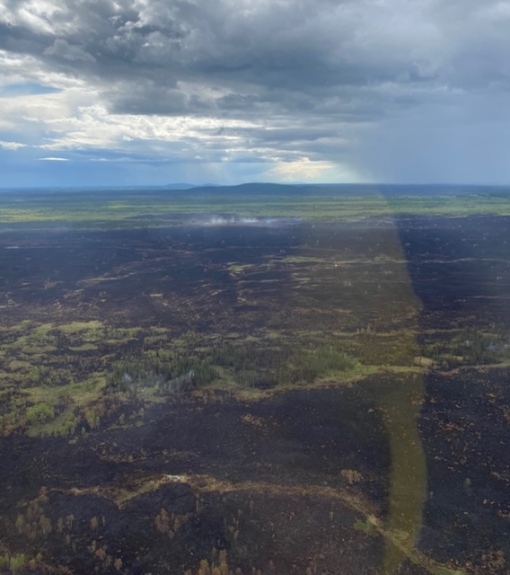 Photo of Clear Creek Fire on June 2, 2020.