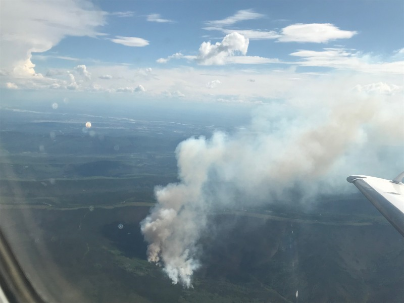 Photo of Any Creek Fire on June 13, 2020.