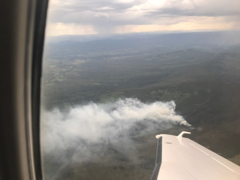 Photo of the Any Creek Fire on June 13, 2020.