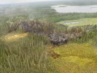 Photo of Ninemile Lake fire