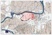 Isom Creek Fire Map for June 20, 2020
