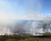 Photo of Sheenjek Fire burning north of Fort Yukon on July 7, 2020. Photo by Chris Demers, BLM AFS.