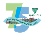 Graphic for BLM 75th anniversary