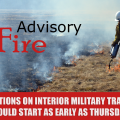 Graphic showing a firefighter using a drip torch in a field of dry grass.