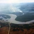 Smoke from a wildfire south of the Kuskokwim River and the village of Akiakchak