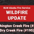 Graphic for wildfire update.
