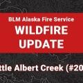 Graphic for Little Albert Creek Fire.