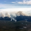 The Noatak River Fire (#232) is an estimated 11,000 acres and burning in the Noatak National Preserve about 120 miles northeast of Kotzebue. Smoke from it and the nearby Tutak Creek Fire are impacting numerous communities to the southwest.