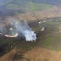 An aerial photo of the Salcha River Fire (#169), located approximately 25 air miles up the Salcha River on Wednesday, June 9, 2021.