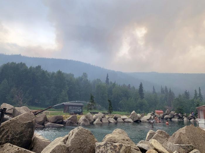 Smoke rises from the Munson Creek Fire on Monday at around 3:30 p.m.