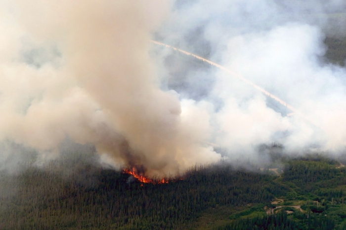 Smoke rises up from the Deadwood Fire (#315) burning south of Central about an hour after it was reported at 4 p.m. July 2, 2021.