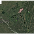 Map of the Marten Creek Fire (#386) burning about 10 miles northeast of Venetie on Aug. 6, 2021.